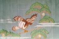 手刺繍 鷹